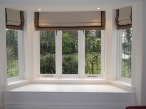 Roman Blinds in a bay