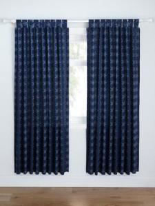 Skirting board length curtains.