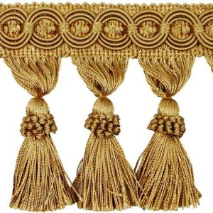 61B44-91pRLExpo International 10Yard Kylie Classic Tassel Fringe Trim, Gold